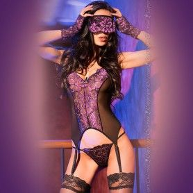 BODY WITH BLINDFOLD AND GLOVES CR-3882 BLACK - Sex Shop Sexy